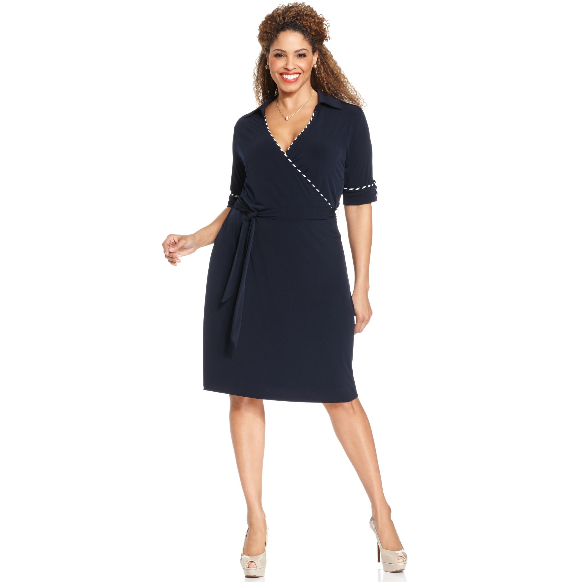 Lyst - Jones New York Collection Plus Size Elbowsleeve Fauxwrap ...