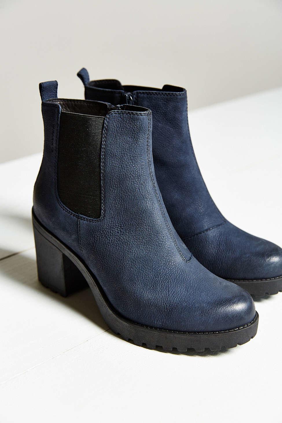 vagabond grace platform ankle boot in blue lyst. Black Bedroom Furniture Sets. Home Design Ideas