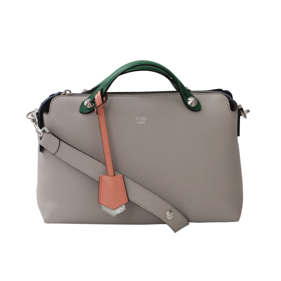 fc21045ba051 ... sale fendi by the way small boston bag in gray lyst 3efff e4940