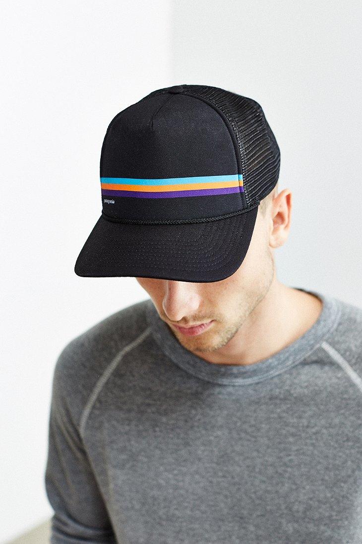 24c85bb9 Patagonia Fitz Roy Lopro Trucker Hat in Black for Men - Lyst