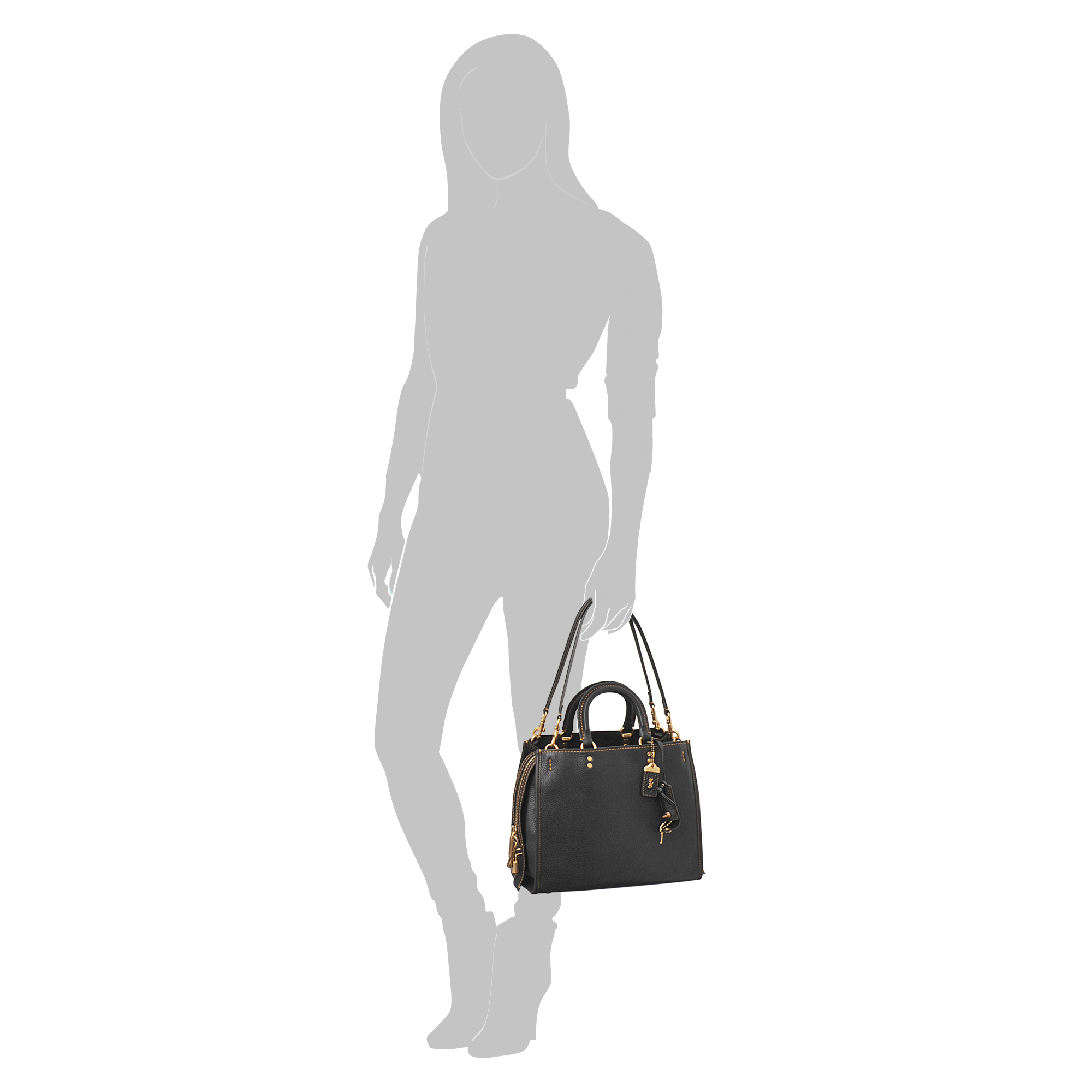 02334d1440 get lyst coach pebble leather rogue bag in black a9c82 eb1e4