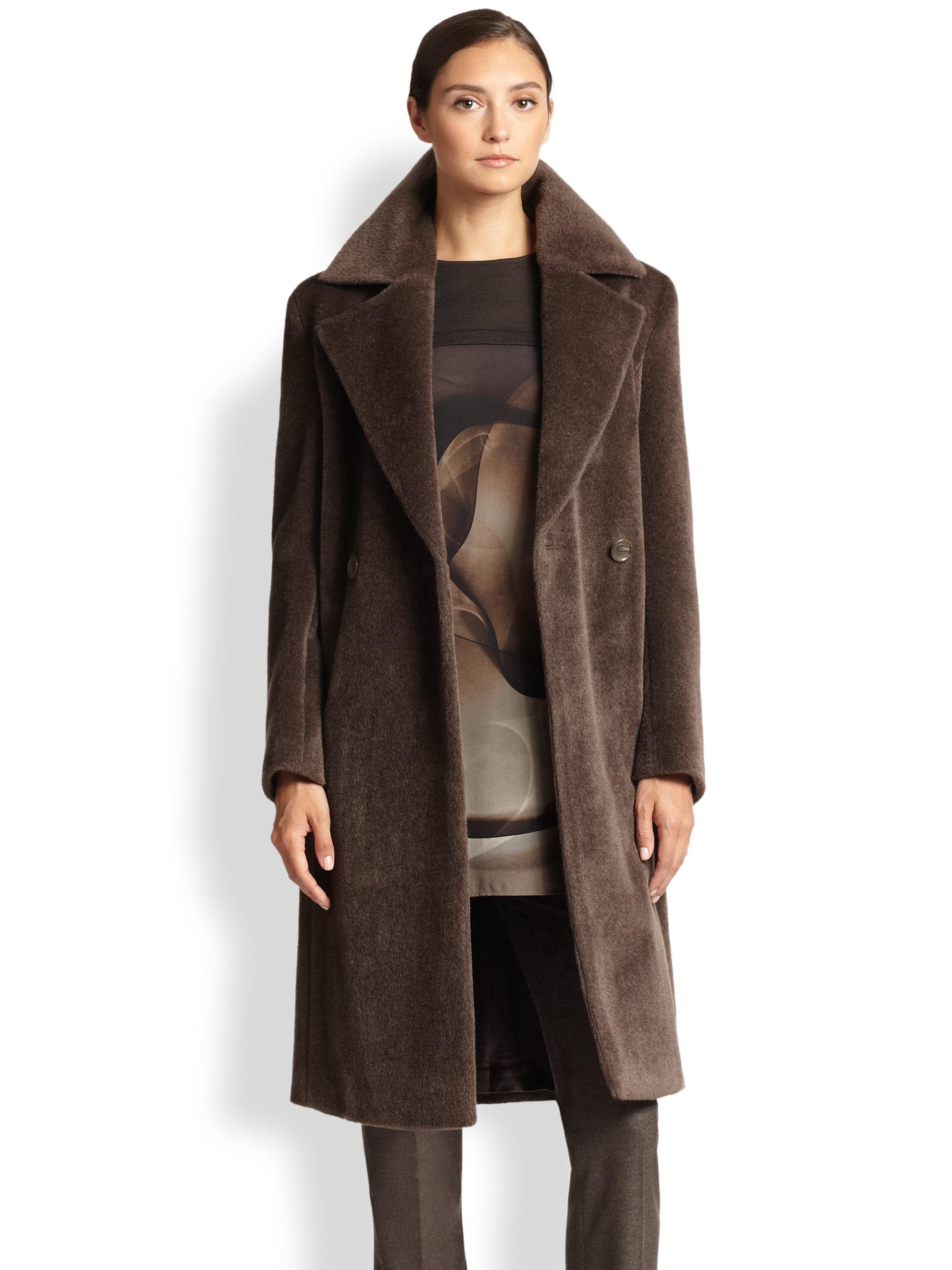 Akris Alpaca Wool Olsen Coat In Gray Cordoba Grey Lyst