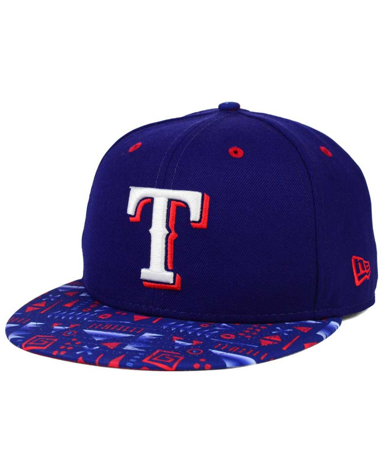 online retailer 6f988 5128a ... store lyst ktz texas rangers geo 59fifty cap in blue for men a7092 4ed2b