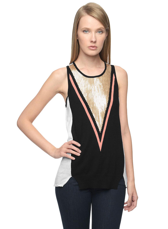 Ella moss Women's Jodi Slip Dress, Marine Multi, X-Small
