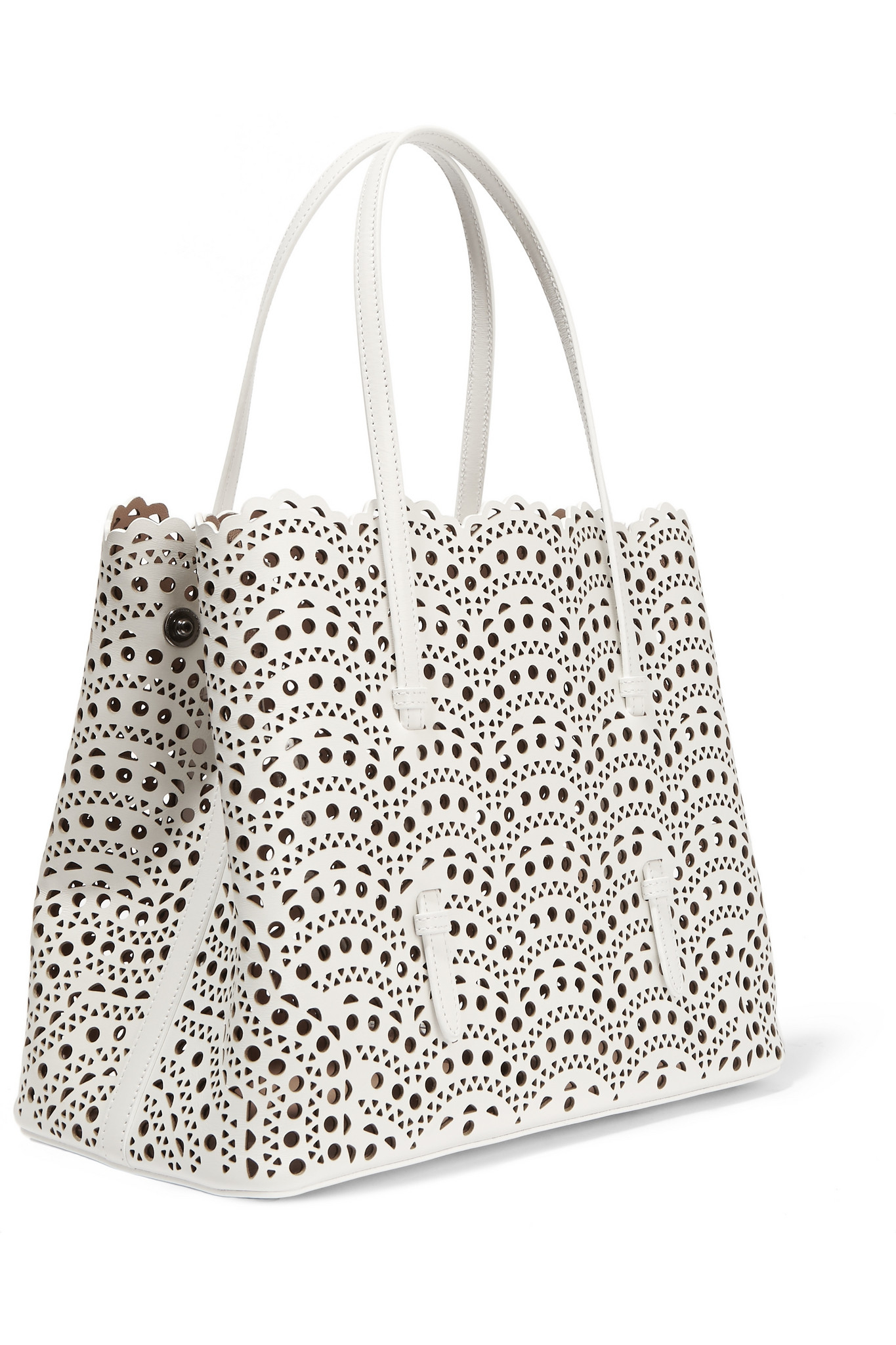 Alaia Black and white large tote bag SIsEoCj8