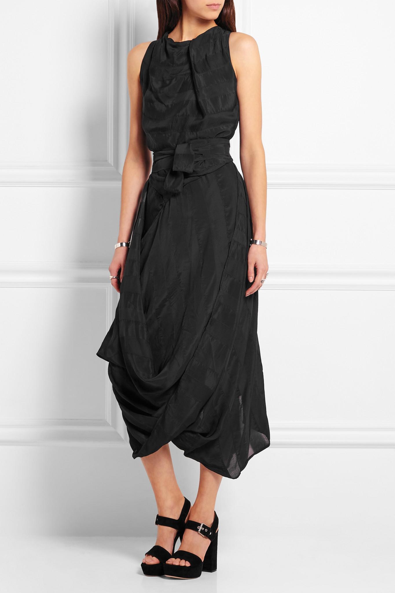 e7b9047870d Vivienne Westwood Anglomania Eight Asymmetric Striped Taffeta Dress ...
