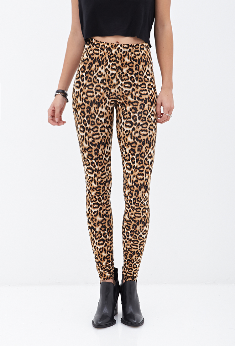 9a3b84baba1b5 Forever 21 Leopard Print Leggings - Lyst