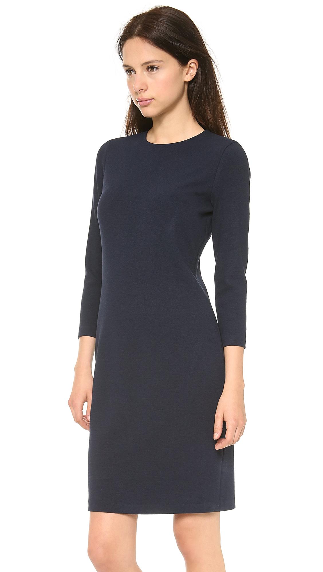 Vince 3/4 Sleeve Pencil Dress in Black (Mallard) | Lyst