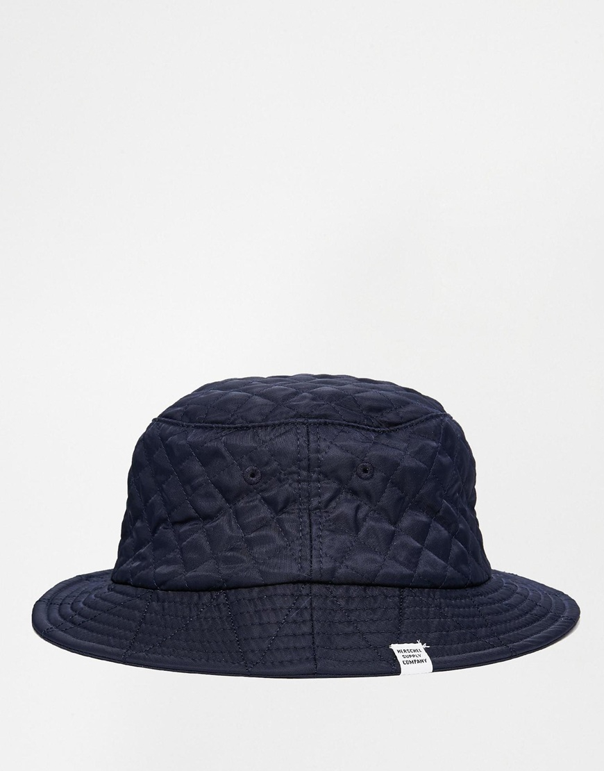 1a90e629643 Herschel Supply Co. Lake Quilted Bucket Hat in Blue for Men - Lyst