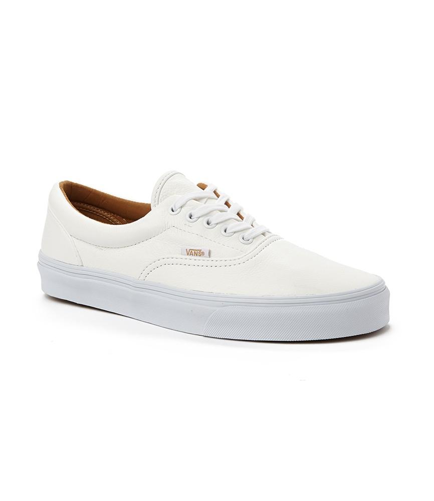 cf9190273862 Lyst - Vans Era Plimsolls In Premium Leather in White for Men
