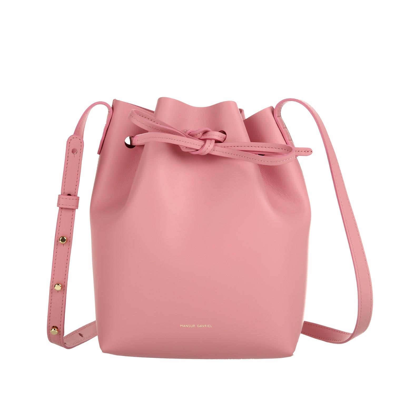 Mansur Gavriel Mini Bucket Bag In Pink Lyst
