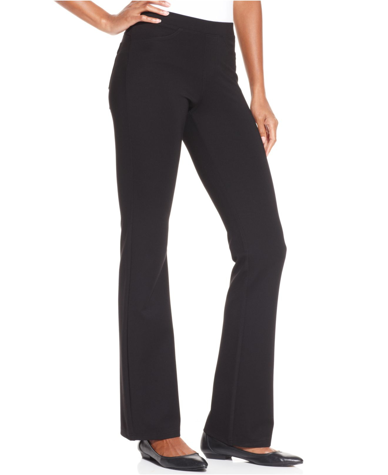 4166d068204cf Hue Ponte Bootcut Leggings in Black - Lyst