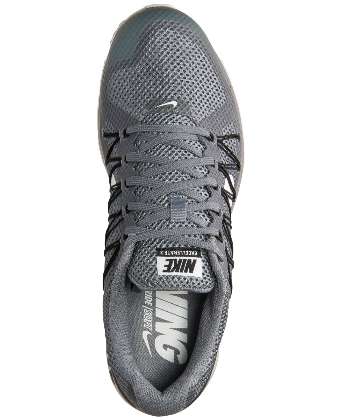 ... best lyst nike mens air max excellerate 3 running sneakers from finish  line in gray for c32a2fd00
