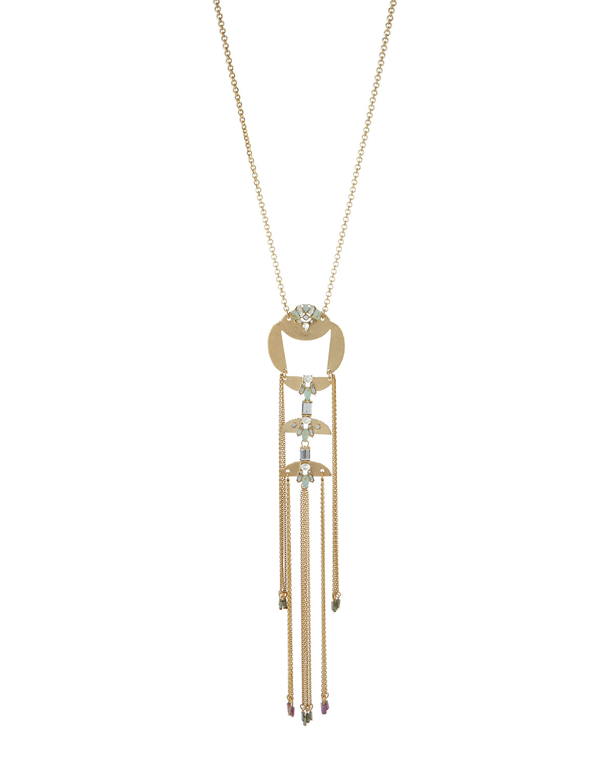 Lydell Nyc Crystal Tassel Pendant Necklace xZOUNibz