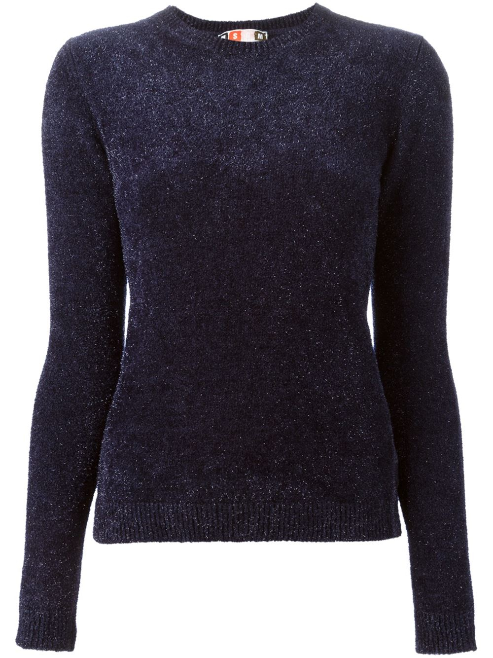 Msgm Glitter Sweater in Blue | Lyst