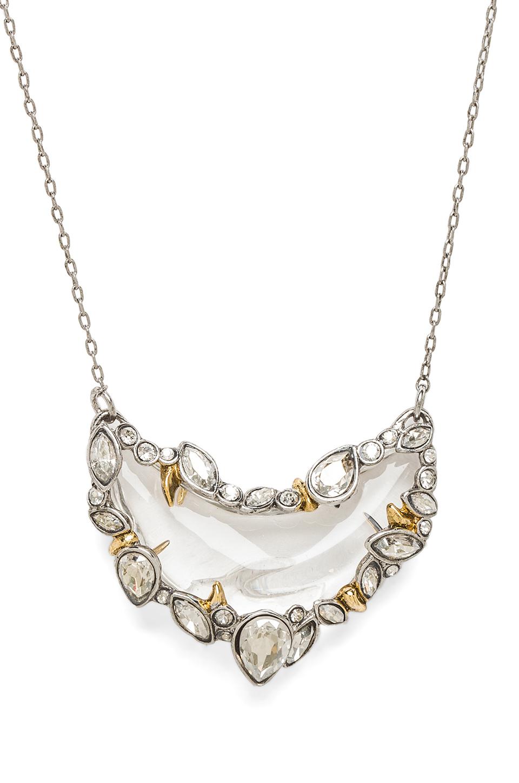 Alexis bittar jardin mystere jagged edged crescent pendant for Jardin necklace