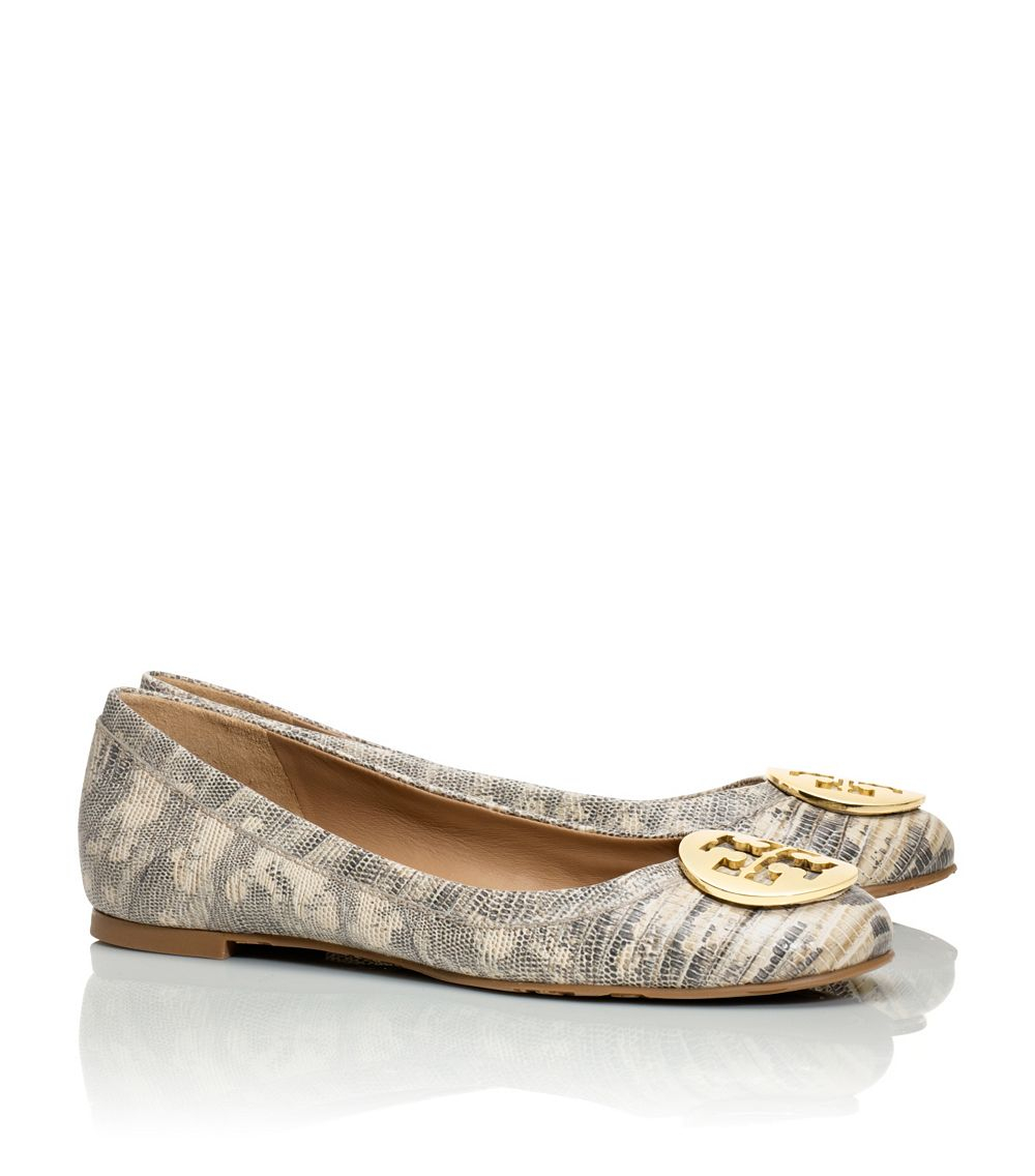 fdd97183f Lyst - Tory Burch Reva Ballet Flat in Brown