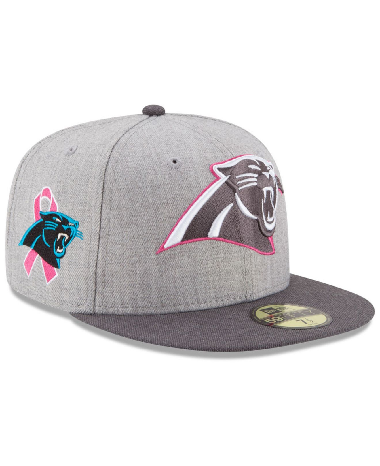 5dcb93c4cfc Lyst - KTZ Carolina Panthers Breast Cancer Awareness 59fifty Cap in ...