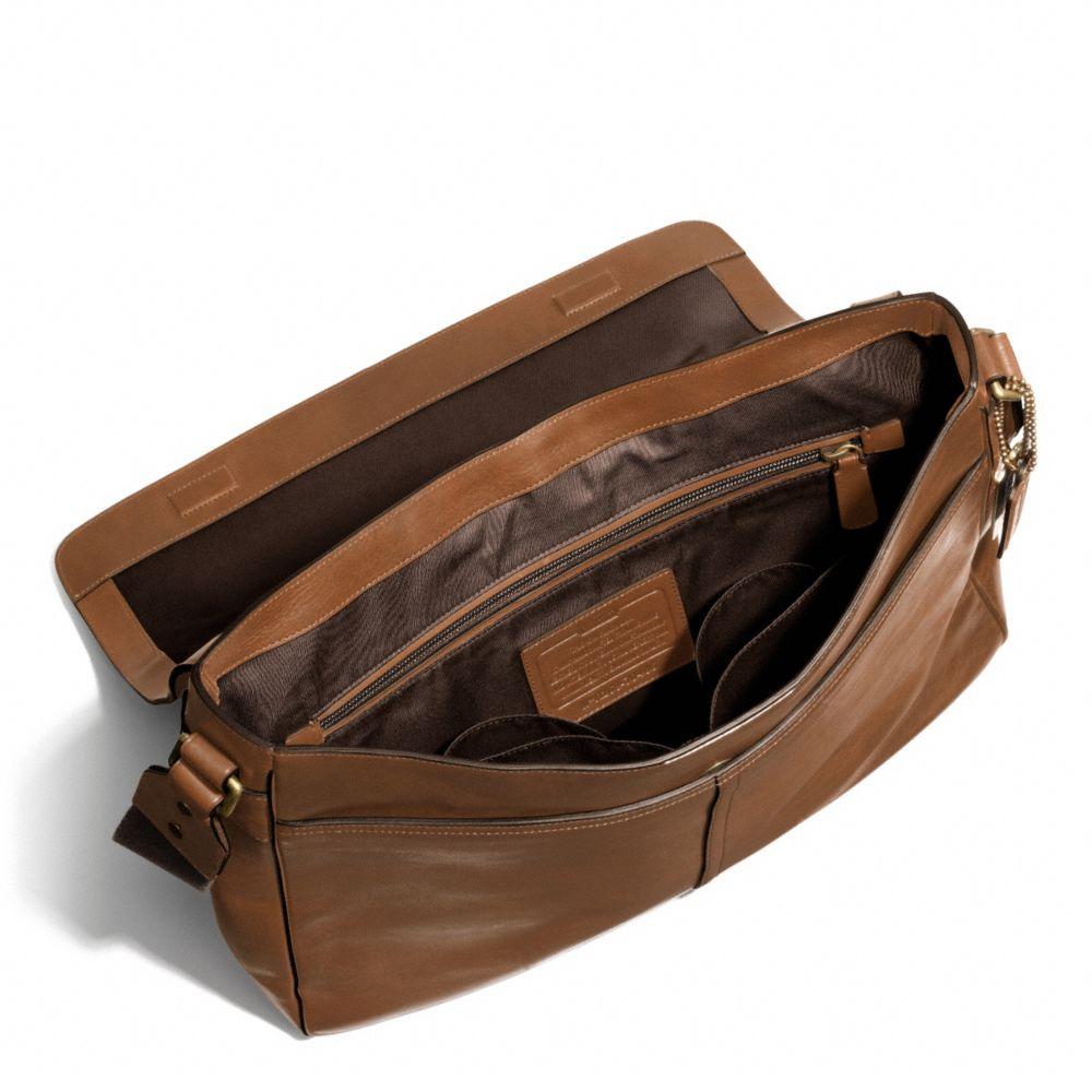 95de484ddf ... signature coated canvas in bla ea8e6 b2da4  shop lyst coach bleecker  legacy courier bag in leather in brown for men 5c254 8f9c1