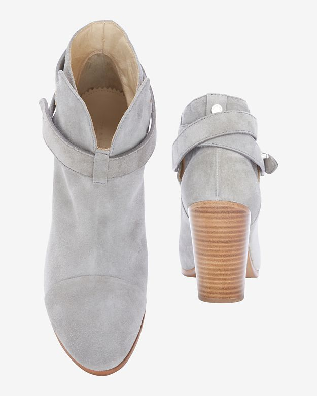1ce23934e1eb9 Rag & Bone Harrow Suede Booties: Grey in Gray - Lyst
