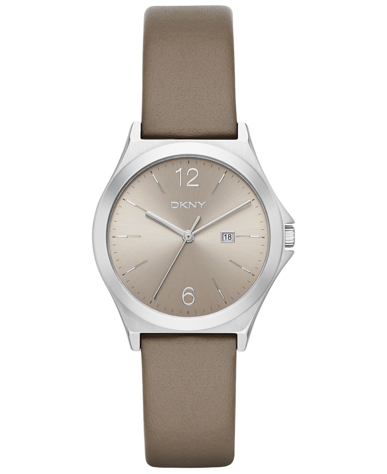 dkny s parsons beige leather 34mm ny2370