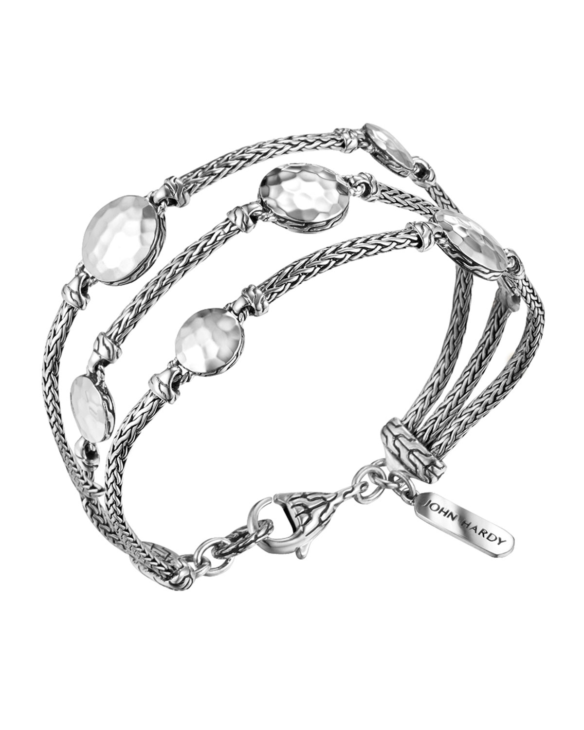 John hardy palu silver three row multi station bracelet in for John hardy jewelry factory bali
