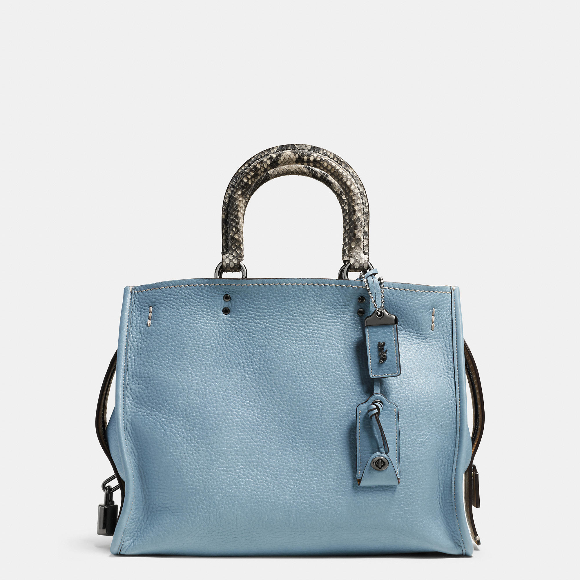 ed2489fb21 ... clearance lyst coach rogue bag in colorblock python in blue ff59b 4f4f9