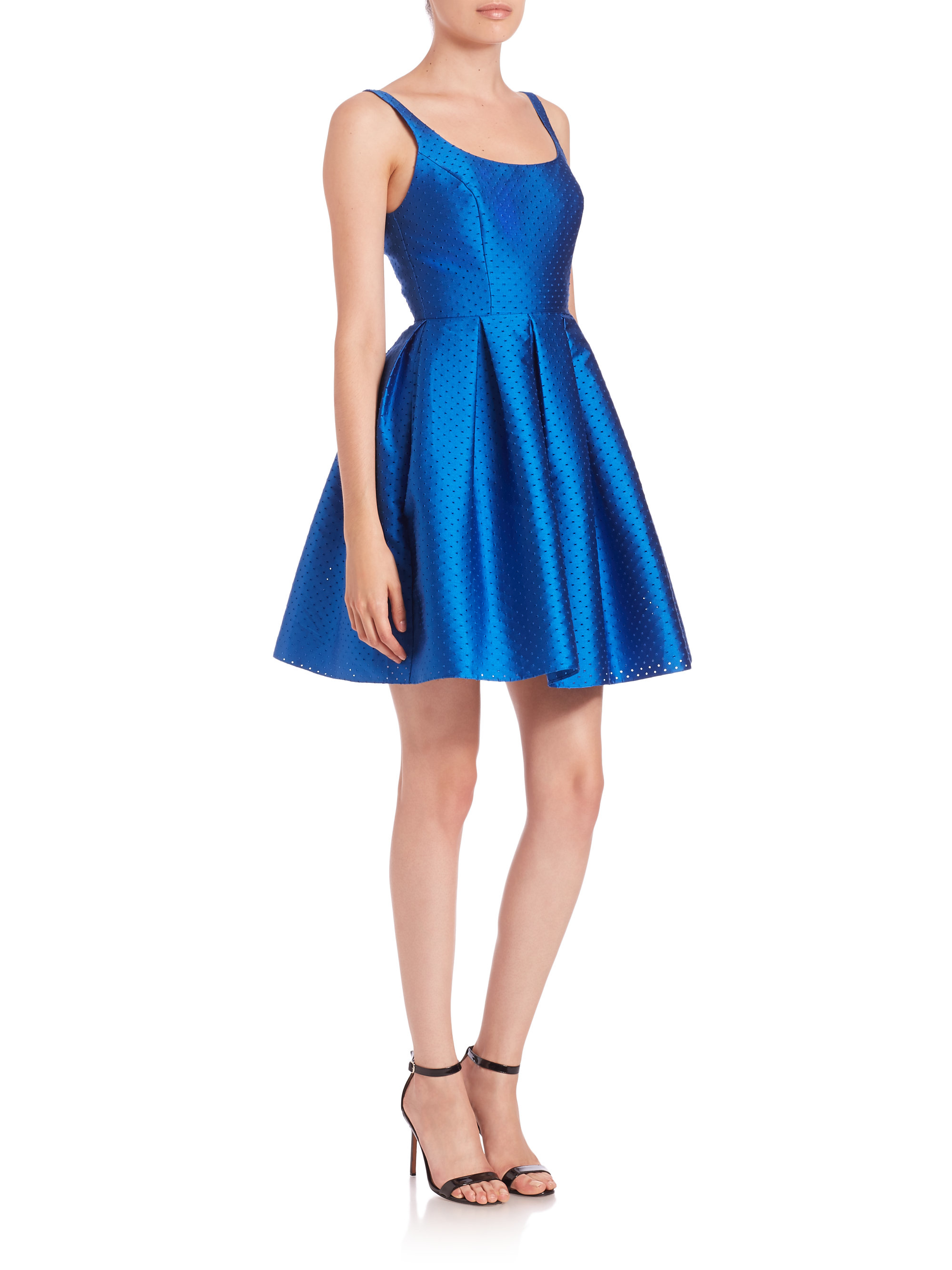 Lyst - Sachin & Babi Alma Perforated Party Dress in Blue