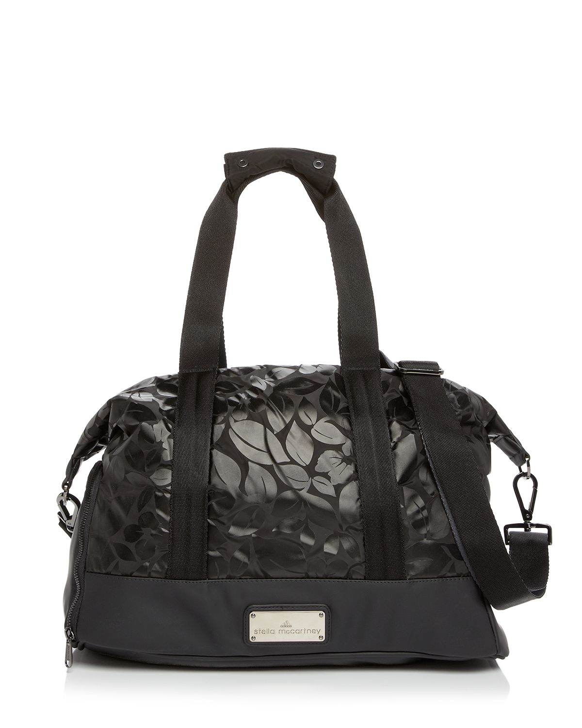 adidas by stella mccartney tote floral small gym bag in. Black Bedroom Furniture Sets. Home Design Ideas