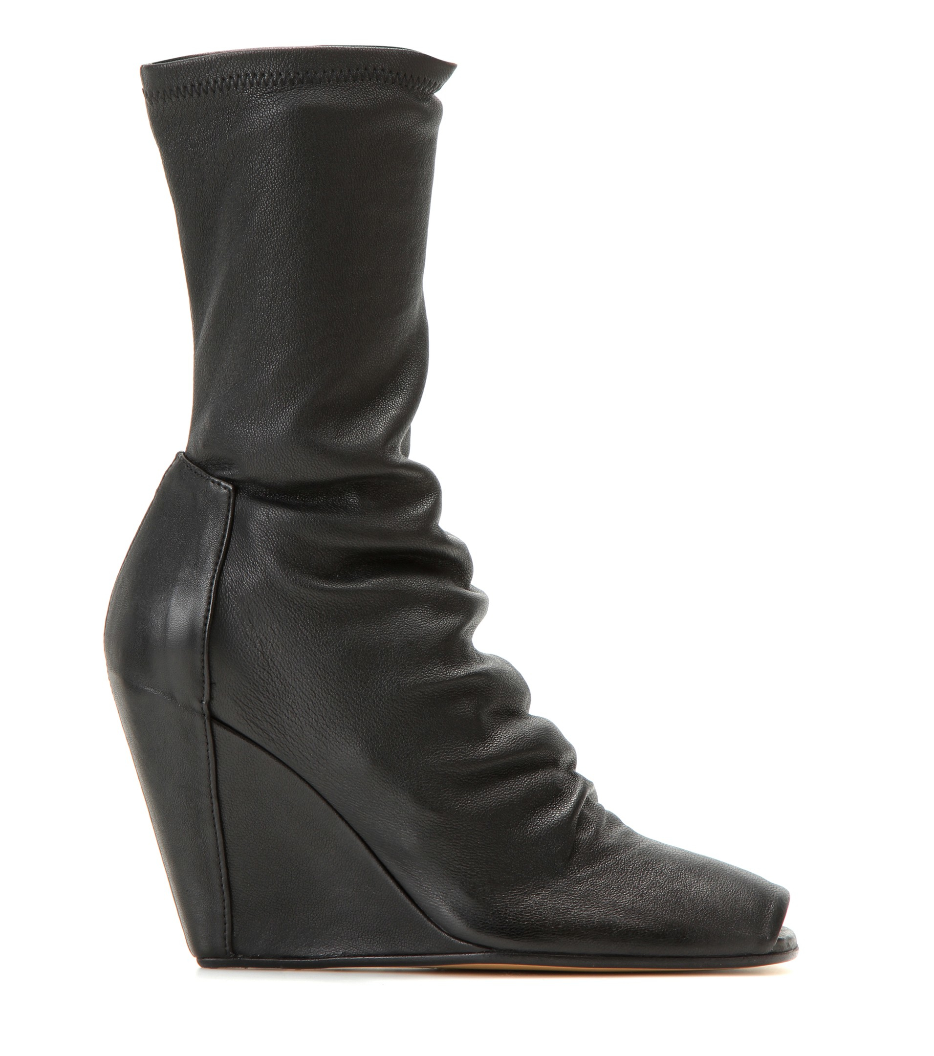 Rick Owens Round-Toe Wedge Boots comfortable for sale sale genuine sale low shipping fee get authentic sale online buy cheap footlocker DDLhbrLK