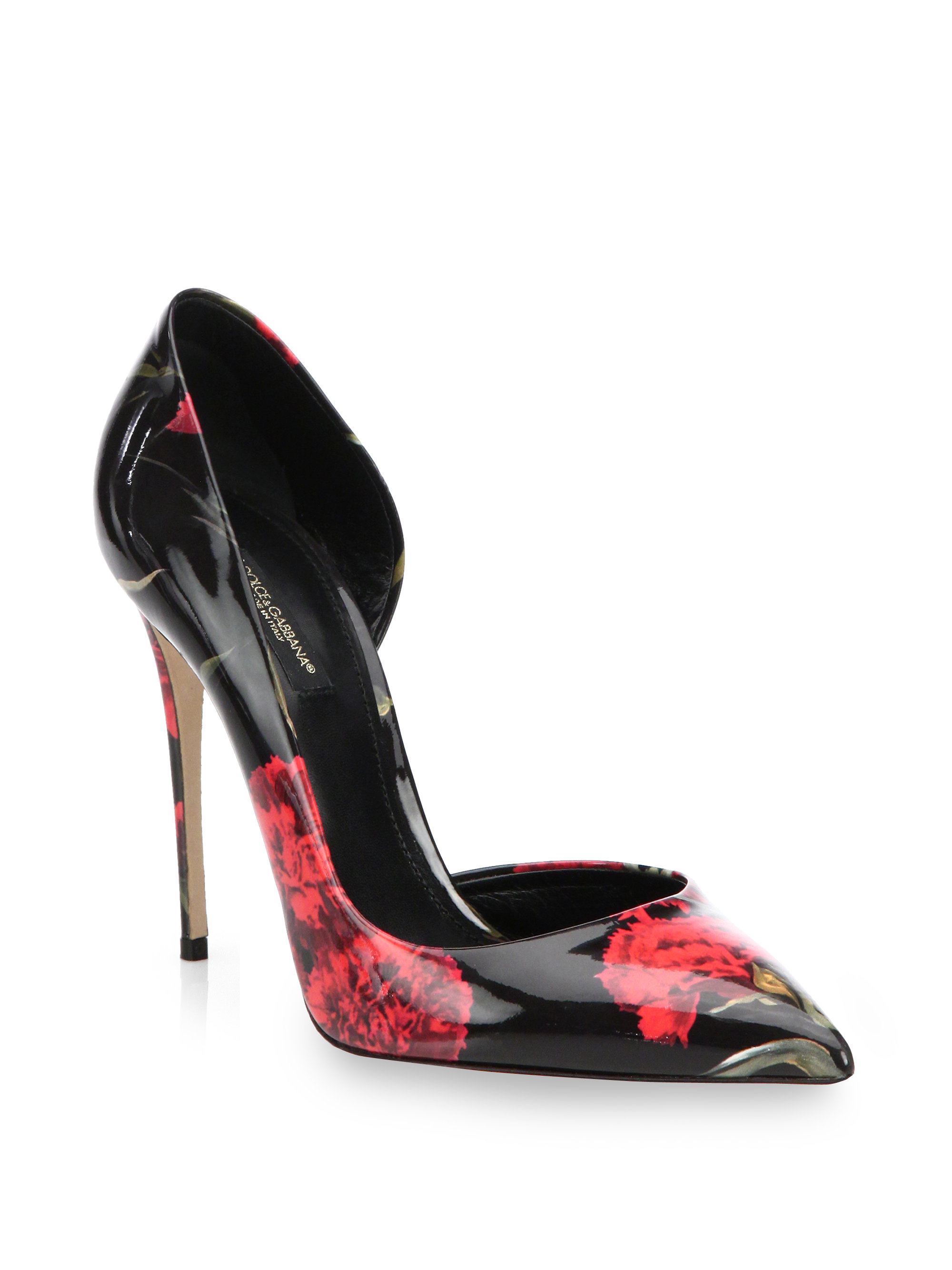 Dolce & Gabbana Patent Leather d'Orsay Pumps outlet 2014 unisex low shipping sale online Ho3MfOHv