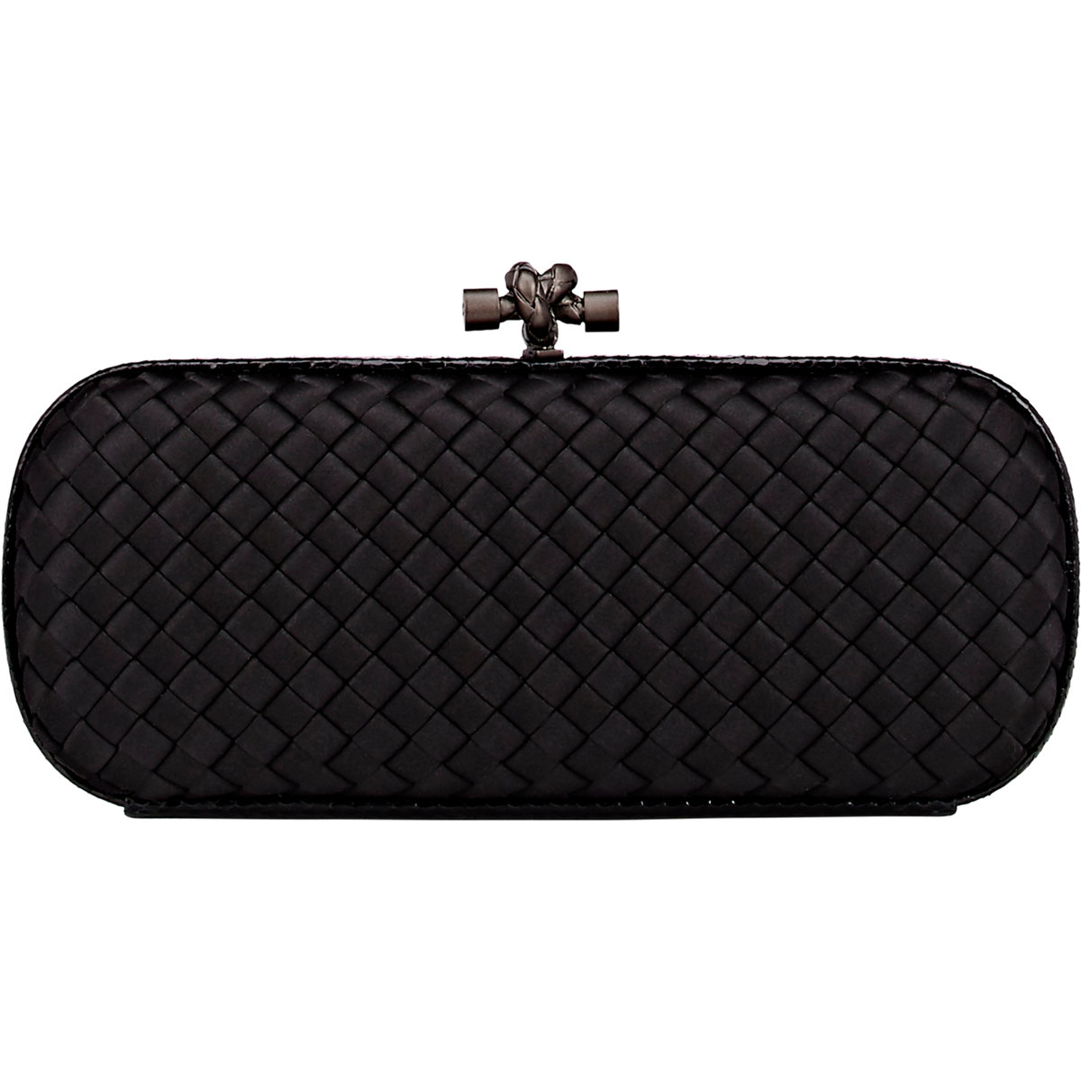 1ef5efb0eb6 Bottega Veneta Intreccio Impero Long Clutch in Black - Lyst