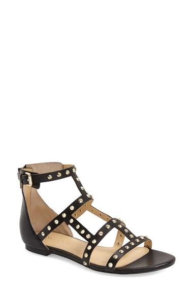 Ivanka Trump Camille Studded Gladiator Sandals In Black Lyst