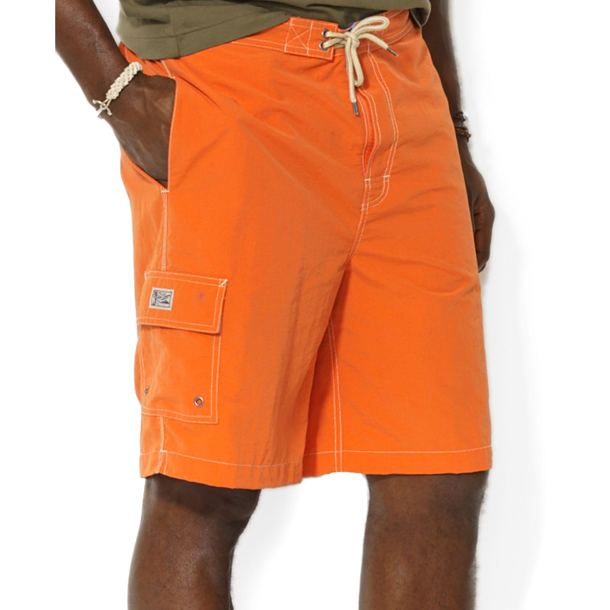 6208bbf8dc Ralph Lauren Polo Big and Tall Kailua Swim Trunks in Orange for Men ...