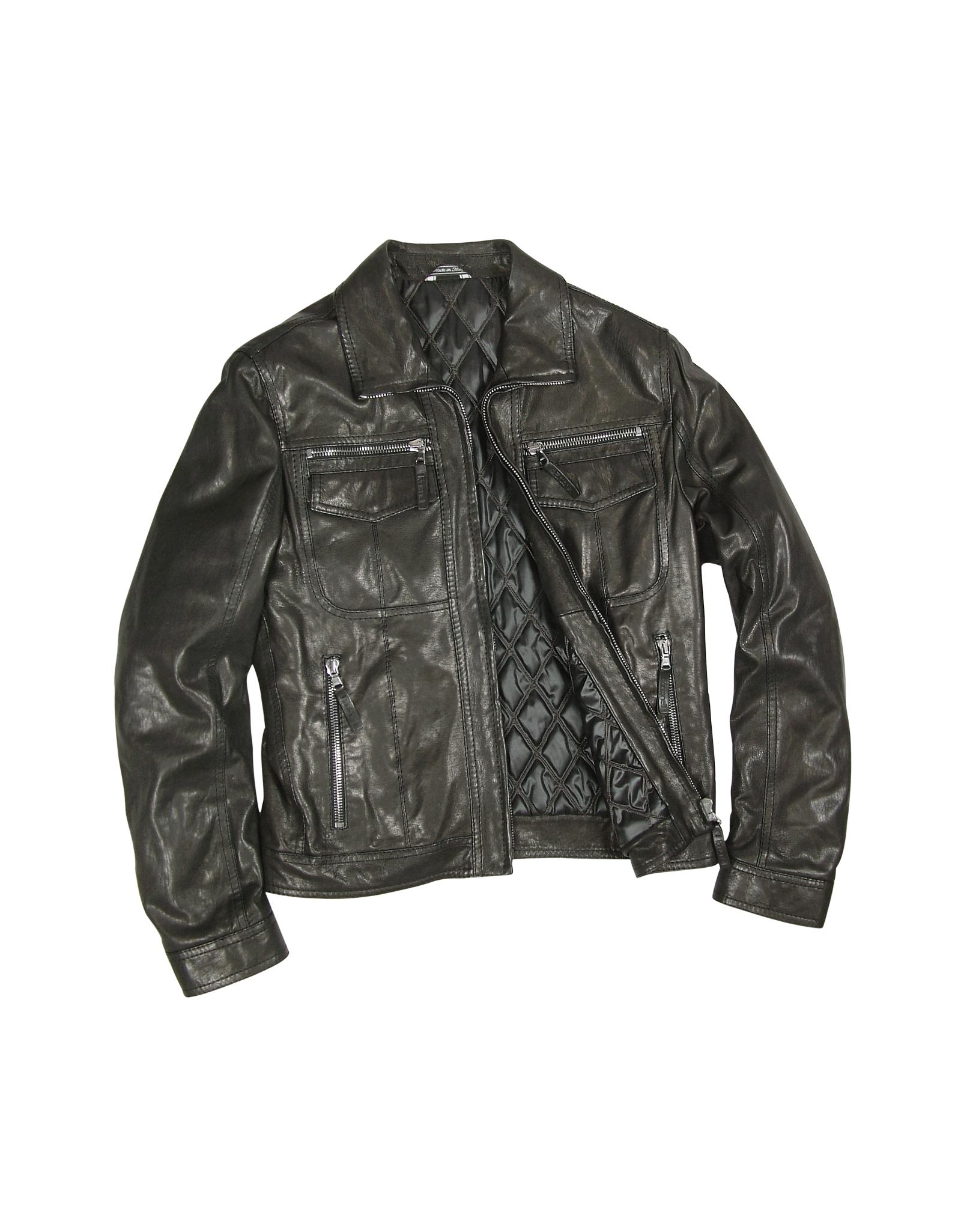 lyst forzieri mens black genuine leather motorcycle