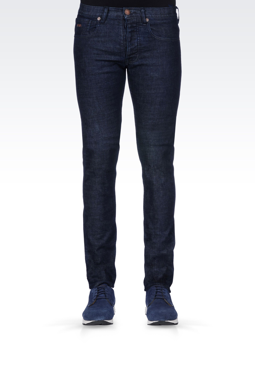 ac2a27ec Emporio Armani Slim Fit Dark Wash Jeans in Blue for Men - Lyst