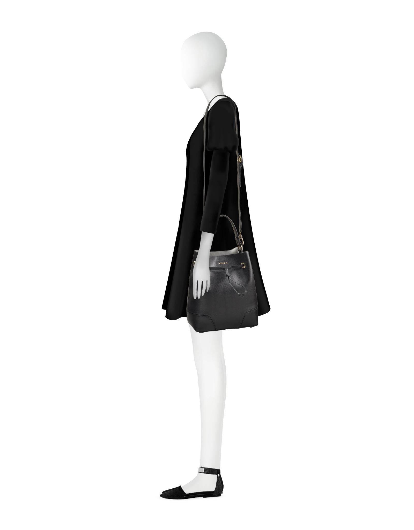 Cheap Low Shipping Fee Stacy Bucket Bag M Onyx Furla Cheap Real ZvbFELbd
