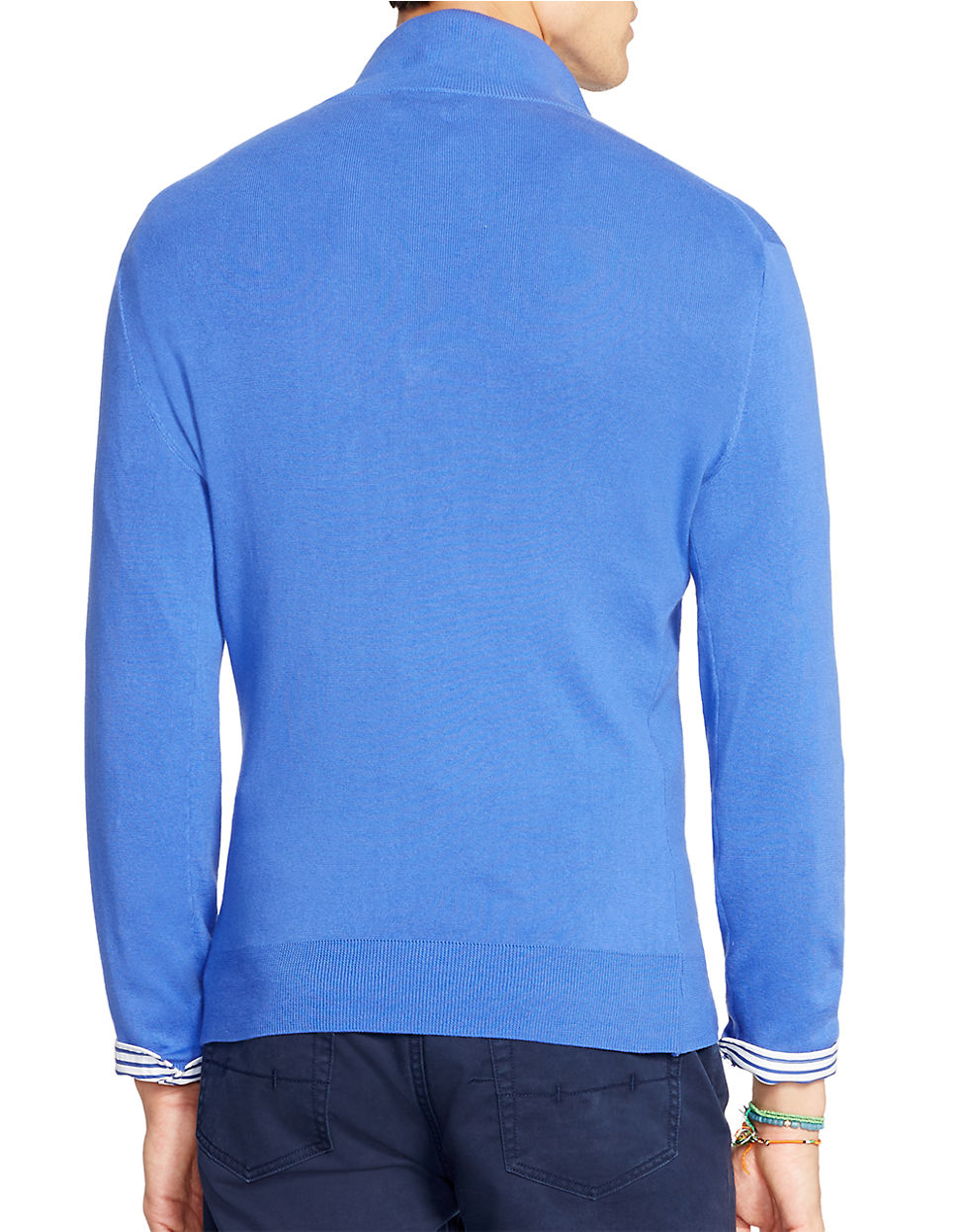 Lacoste Pima Jersey 1 2 Zip Sweater Sweater Jeans And Boots