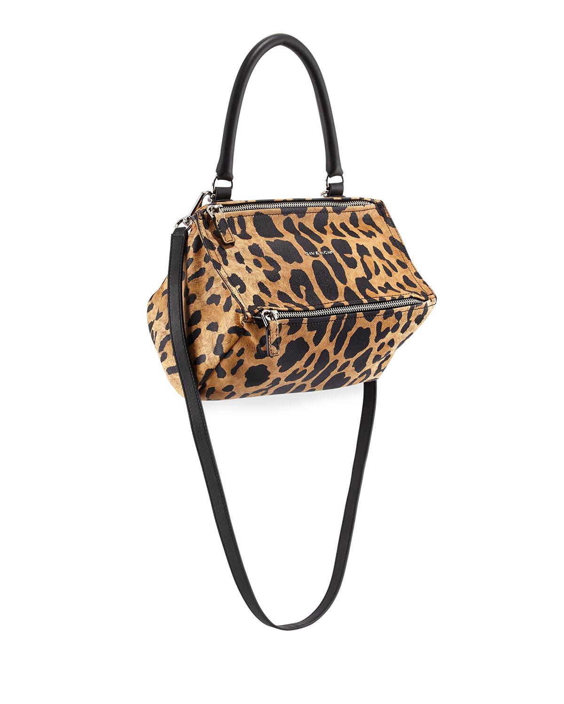Givenchy Pandora Small Printed-Leather Satchel Bag