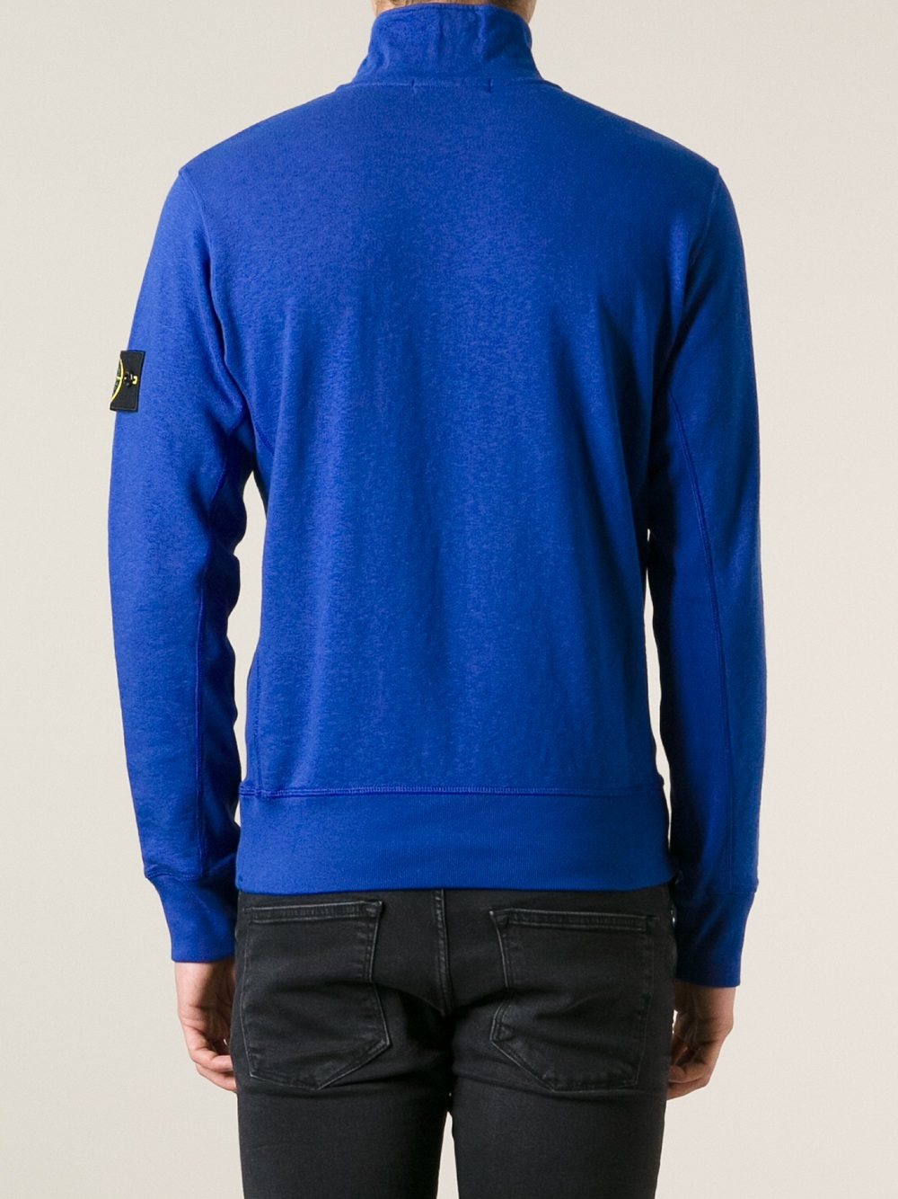 stone island funnel neck sweater in blue for men lyst. Black Bedroom Furniture Sets. Home Design Ideas