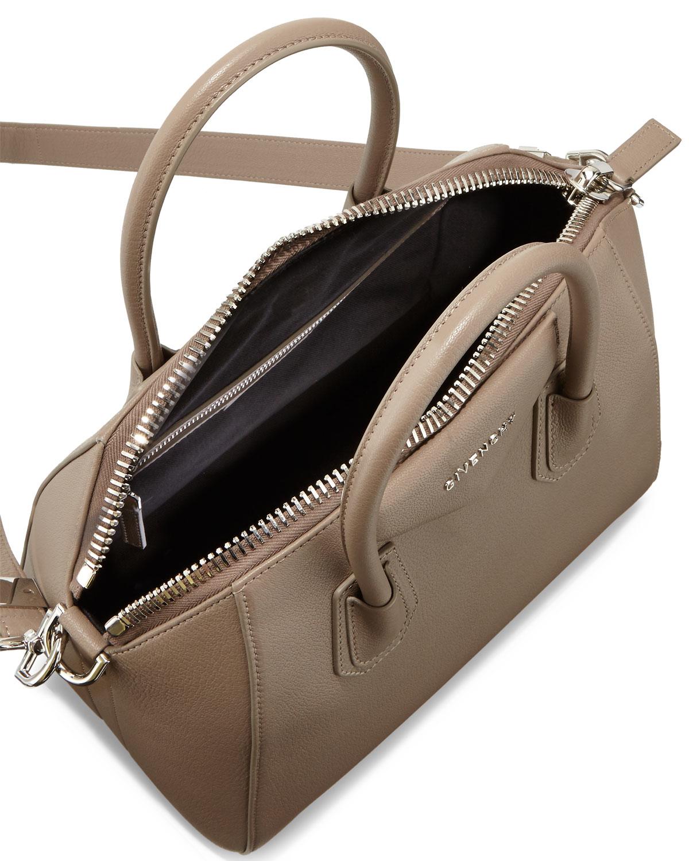 ed10abb93b Lyst - Givenchy Antigona Small Sugar Goatskin Satchel Bag in Natural