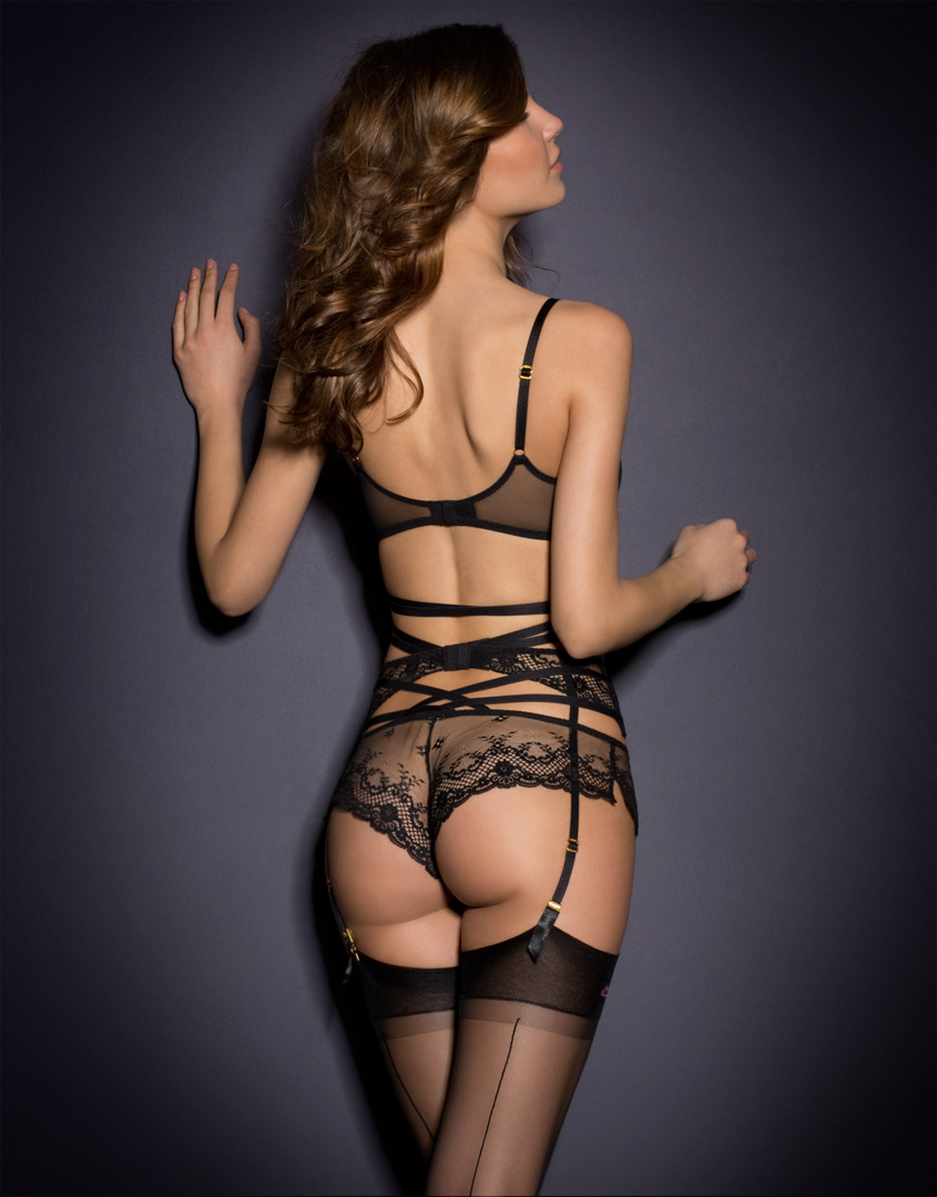 Lyst - agent Provocateur Sandra Suspender In Black-7565