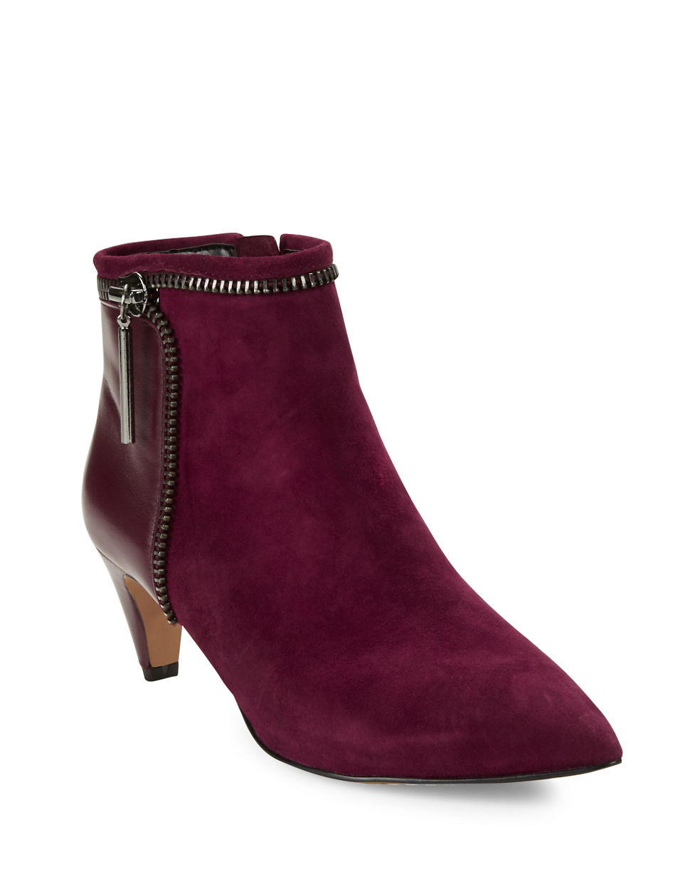 French Connection Kordelle Suede Booties In Purple Lyst