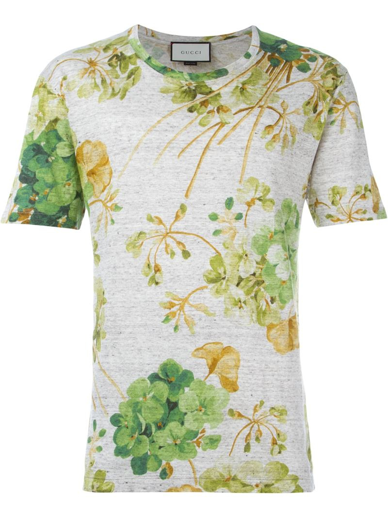 790992b445e Lyst - Gucci Floral Print T-shirt for Men