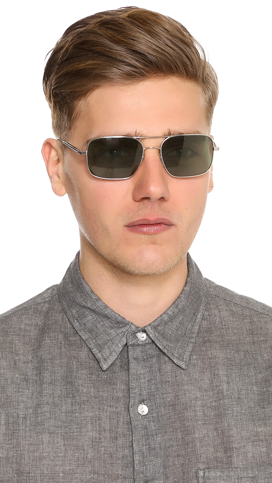 61d7a142b9 Lyst - Oliver Peoples De Oro Sunglasses in Metallic for Men