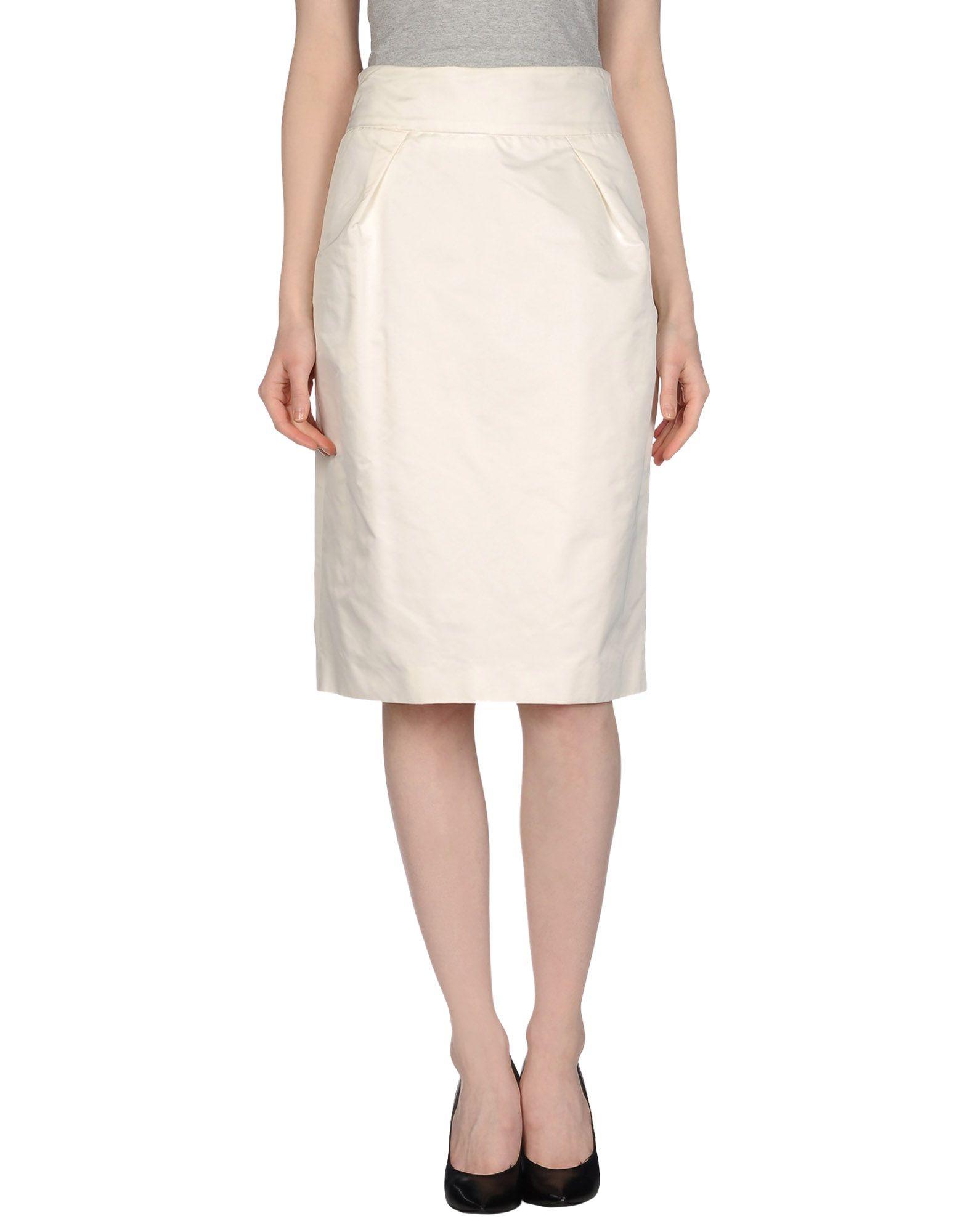 ermanno scervino knee length skirt in white lyst
