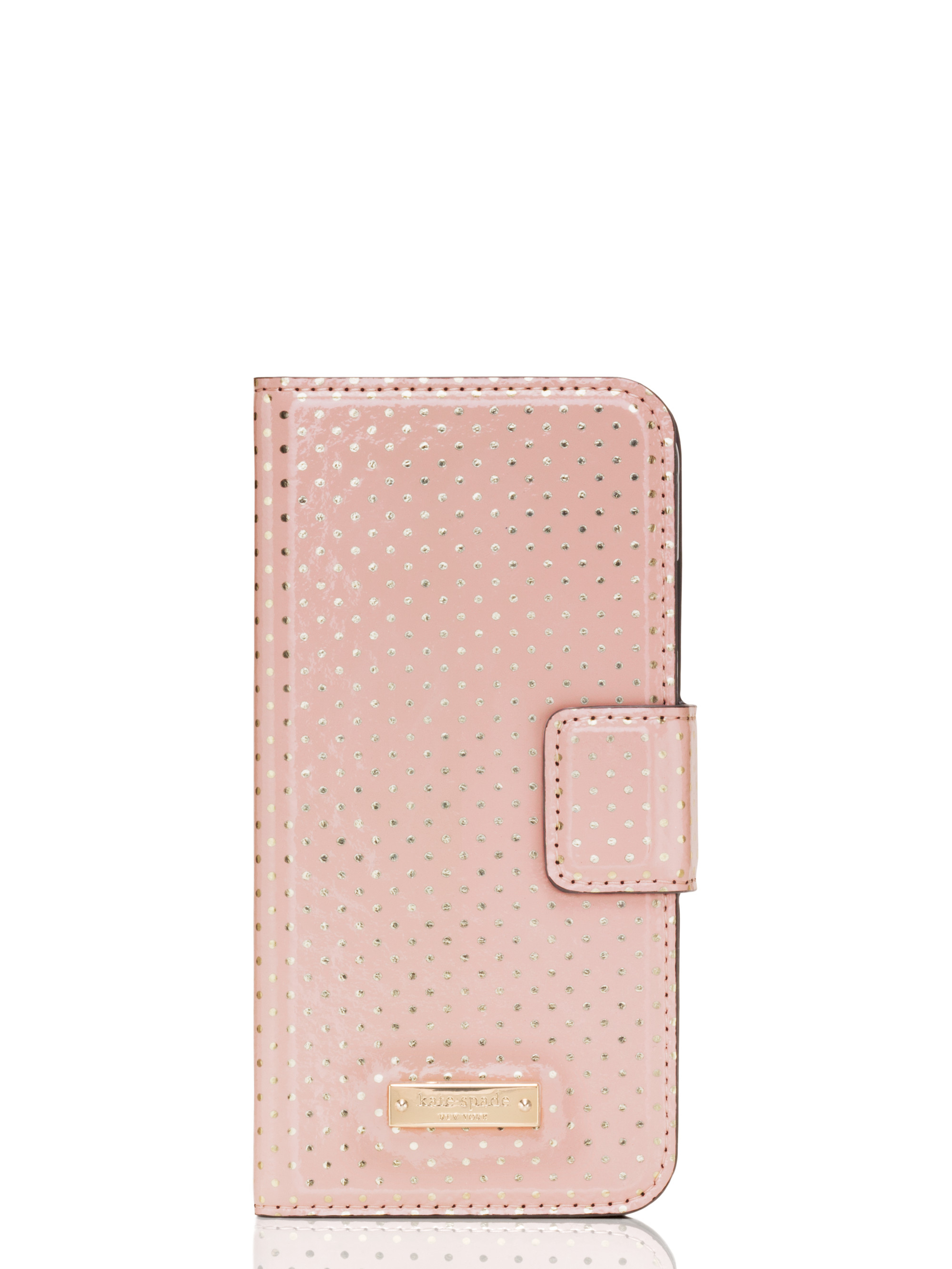 new style 1ceaf c3df9 Kate Spade Tiny Gold Dot Iphone 6 Folio in Pink - Lyst