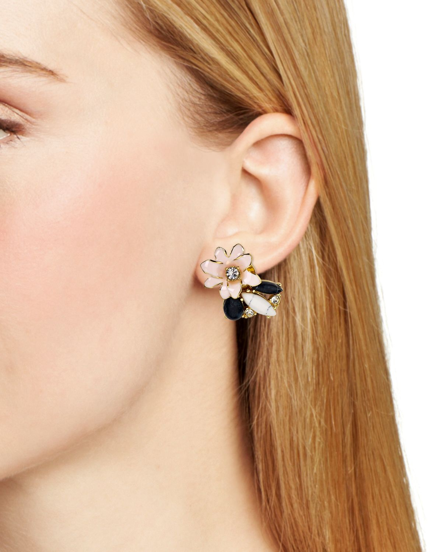 056df80421073 Lyst - Kate Spade Glossy Petals Cluster Stud Earrings