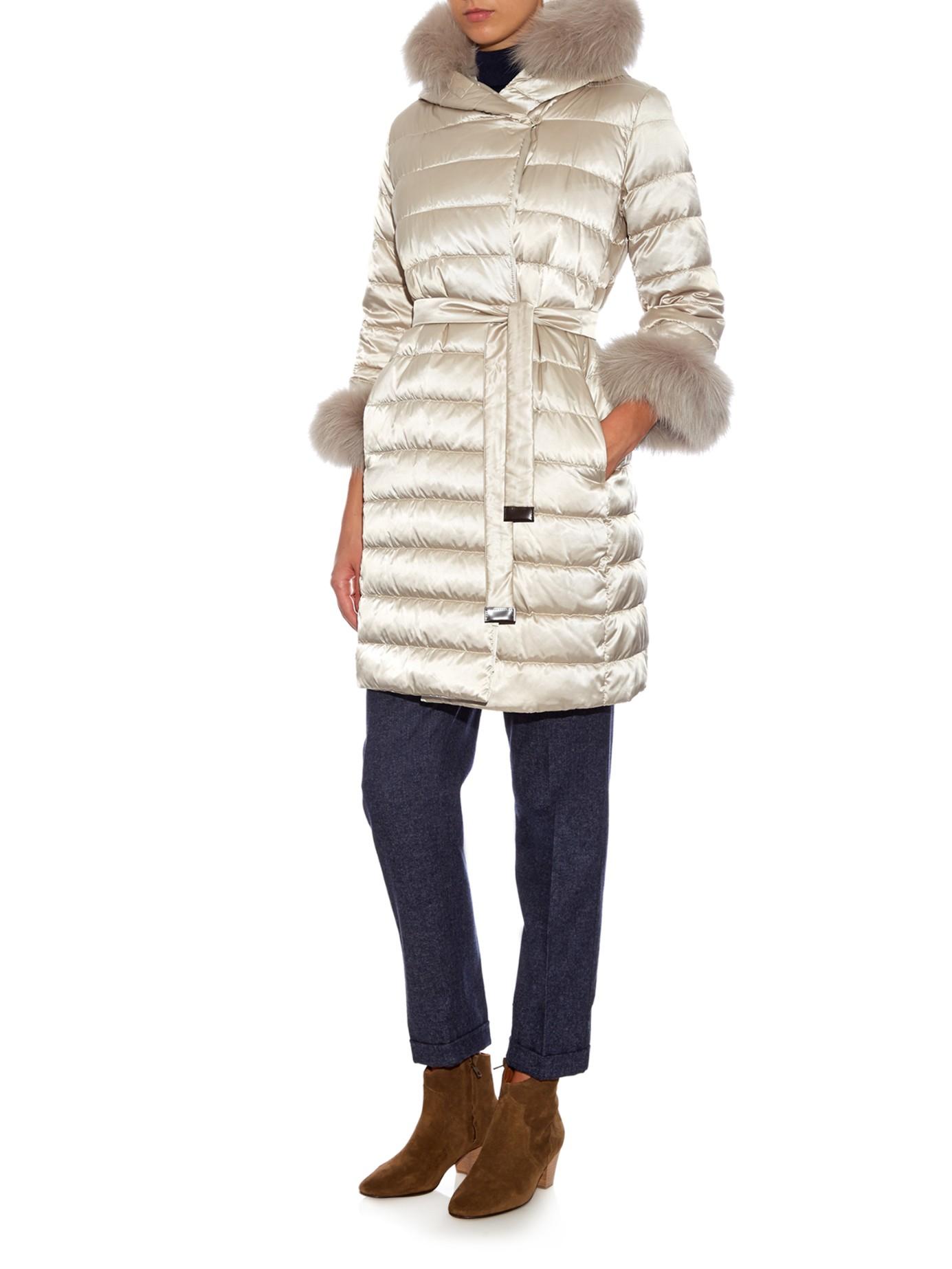 Max Mara Cube Novef Reversible Coat In Cream Natural Lyst