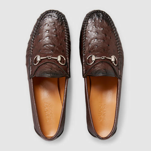 4d585404937 Gucci us brown ostrich horsebit ostrich loafer brown product normal jpg  490x490 Brown gucci loafers